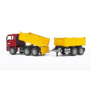 Bruder Toys MAN construction truck with trailer at Sears.com