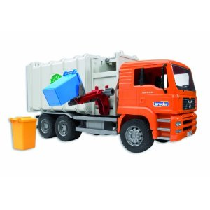 Bruder Toys Man Side Loading Garbage Truck Orange at Sears.com