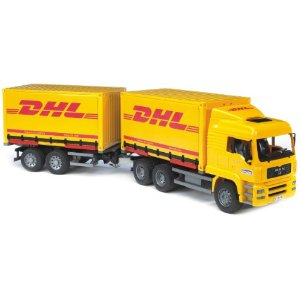 Bruder Toys Bruder Man DHL Truck with Trailer at Sears.com