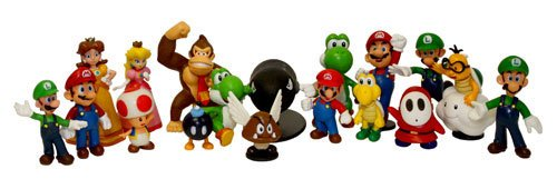 "Super Mario Brothers: 2"" Mini Figures Set of 18 at Sears.com"