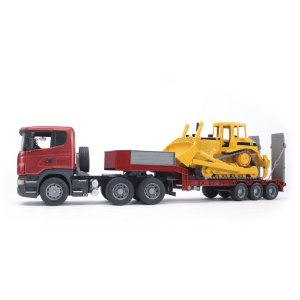 Bruder Scania R-Series Low Loader With Caterpillar Bulldozer at Sears.com