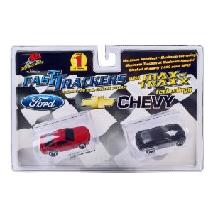 Life Like Twin Pack: Ford Vs Chevy Fast Tracker Slot Cars - 2010 Mustang And Camaro at Sears.com