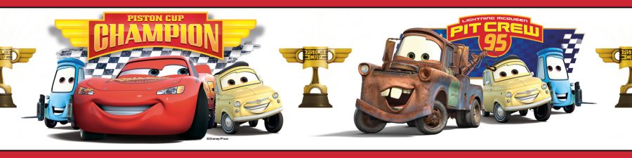 RoomMates Cars - Piston Cup Champion Peel & Stick Border at Sears.com