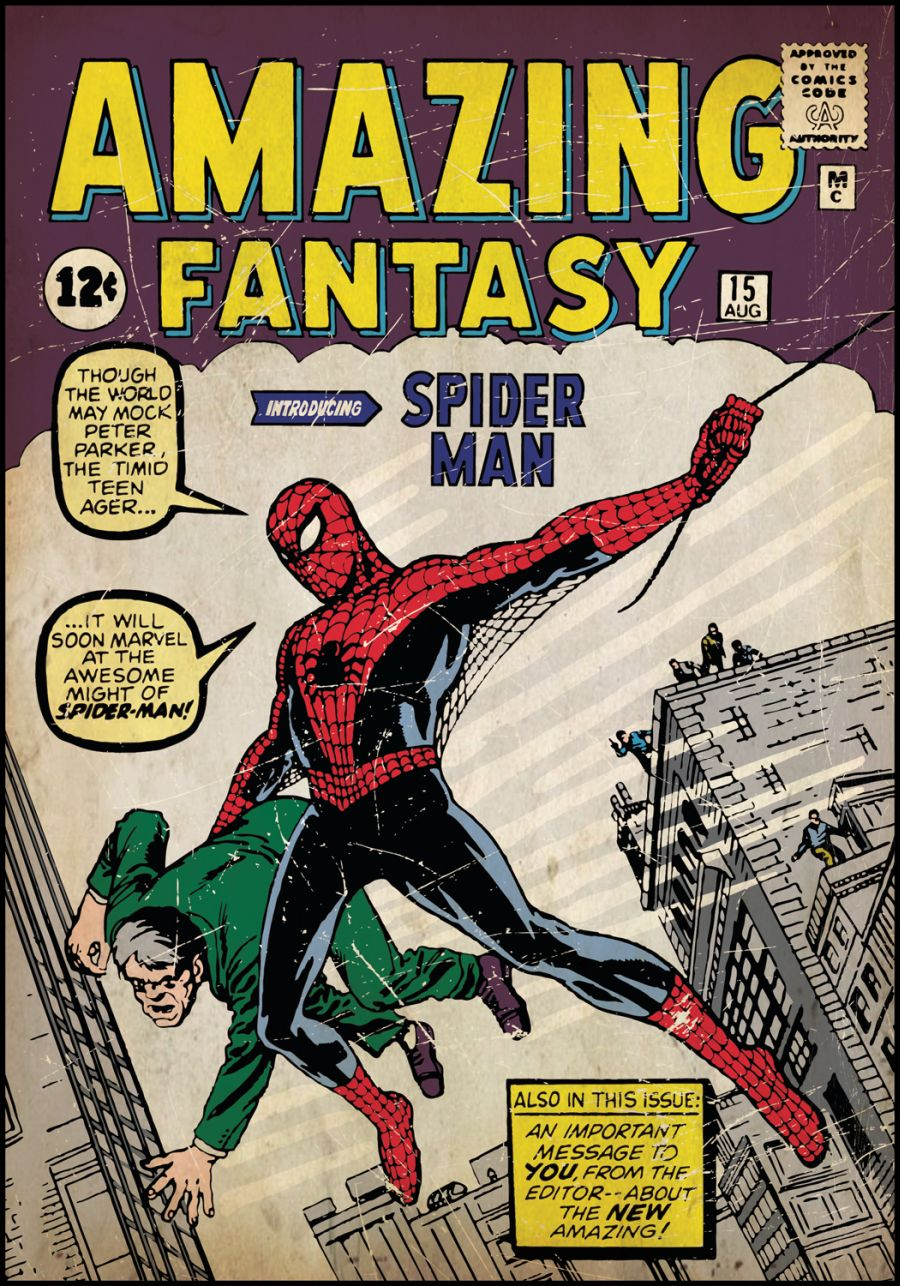 roommates rmk1658slg spiderman 1 comic book cover wall stickers rmk1658slg