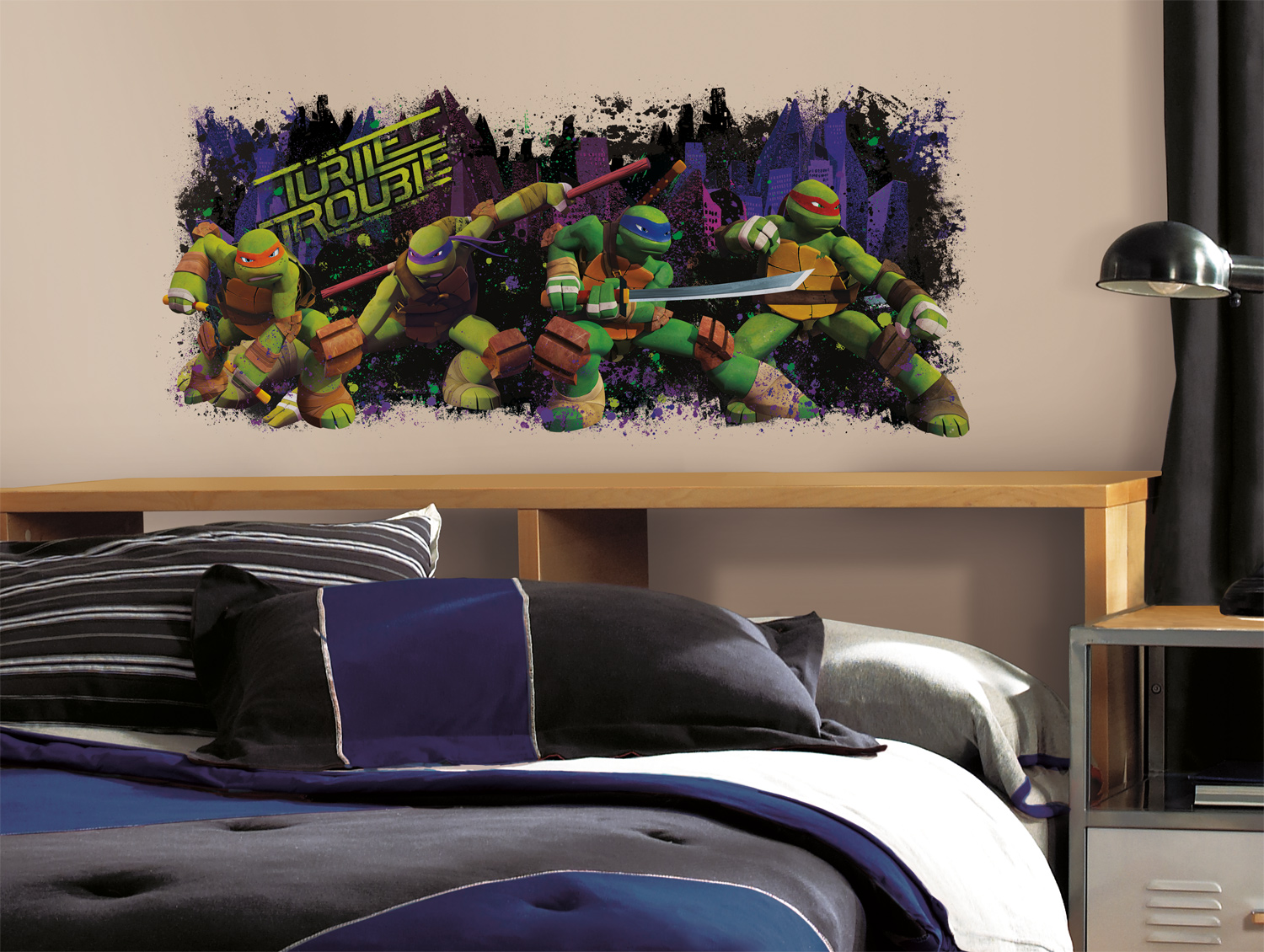 RoomMates RMK2326GM Teenage Mutant Ninja Turtle Trouble Wall Decals Stickers Decor at Sears.com